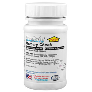 SenSafe® Mercury Check, bottle of 50 | 480048